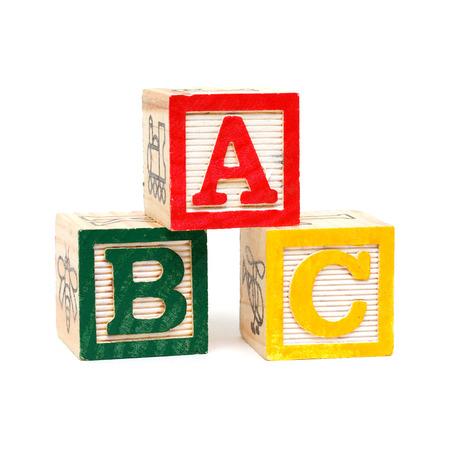 Wooden Alphabet Blocks  Foto de archivo