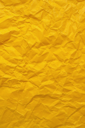 wrinkled paper: Yellow wrinkled paper