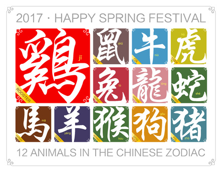 auspicious: Chinese zodiac signs with the year of the rooster in 2017