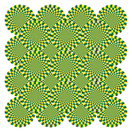 spin: Vector Optical illusion Spin Cycle background