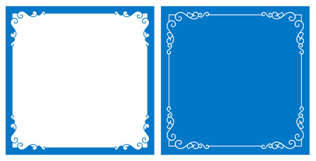 elegante: Vector décoratif et cadre fond Illustration