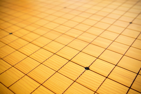 strategical: Blnak go game chessboard background in China
