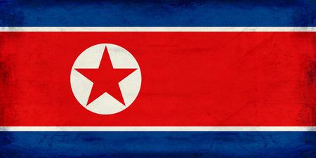 Vintage North Korea flag background