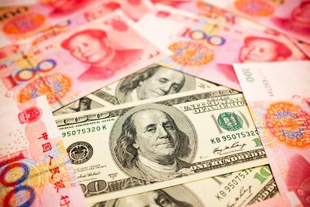 中国人民元と U ドル背景為替レート注 S コンセプト