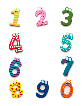Funny numbers isolated on white background Stock Photo