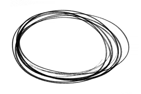 Grunge brush stroke painted  frame isolated on whtie backbround