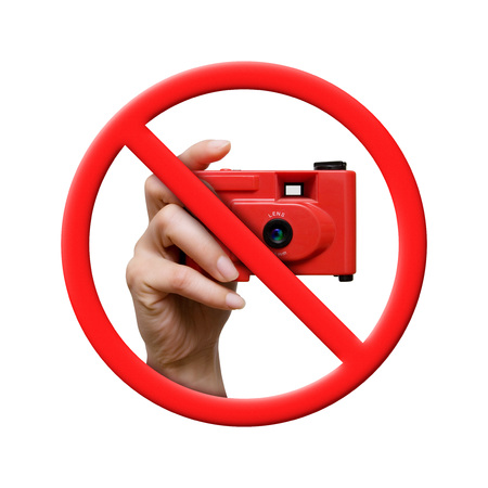 No Photo, Forbidden Sign isolated on White background