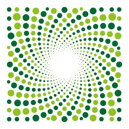 Vector cyclic optical illusion with dots background
