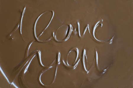 Chocolate message photo