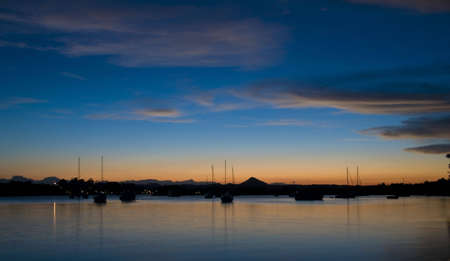 rive: Sunset in Noosa Australia along the rive Stock Photo