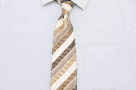 ironed: Freshly ironed shirt with pen in pocket and tie
