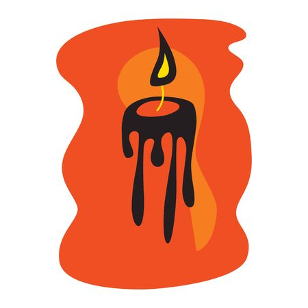 Fortune teelling and divination isolated elements of candles for a mystic sphere of activity, shop. Witch store. Idea for a Taromancy, esoteric, occult books, presentation, website. Furtive telling and witchcraft icons. Vector outline doodle mystery illustrations Imagens - 131270273