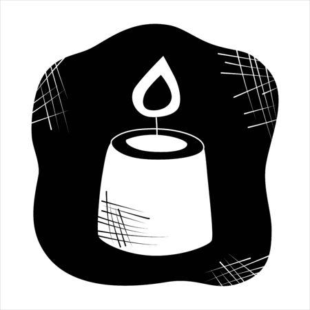 La divination, les bougies isolées de divination pour la sphère d'activité mystique, la boutique. Magasin de sorcière. Idée Taromancie, livres ésotériques, présentation, site internet. Icônes de récit furtif et de sorcellerie. Illustrations vectorielles de griffonnage
