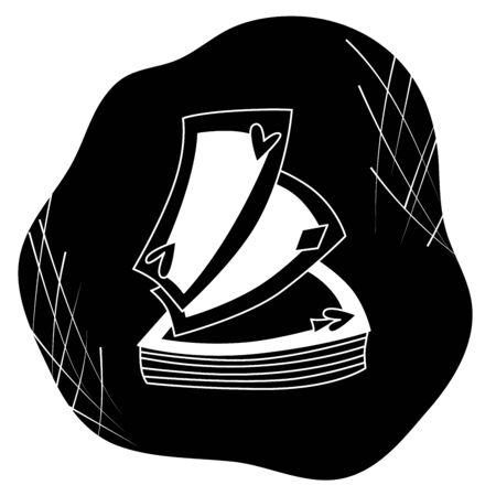 La divination et la divination ont isolé des éléments de cartes pour une sphère d'activité mystique, boutique. Magasin de sorcière. Idée pour une taromancie, livres ésotériques, occultes, présentation, site web. Icônes de récit furtif et de sorcellerie. Illustrations de mystère de contour vectoriel doodle Vecteurs