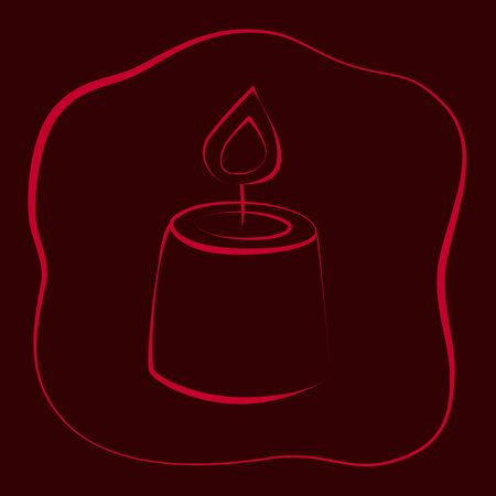 Fortune teelling, divination isolated candles for mystic sphere of activity, shop. Witch store. Idea Taromancy, esoteric books, presentation, website. Furtive telling and witchcraft icons. Vector doodle  illustrations Imagens - 131270909