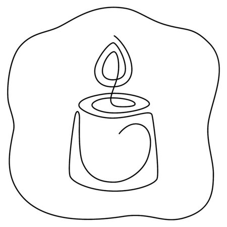 Fortune teelling, divination isolated candles for mystic sphere of activity, shop. Witch store. Idea Taromancy, esoteric books, presentation, website. Furtive telling and witchcraft icons. Vector doodle  illustrations Imagens - 131271070