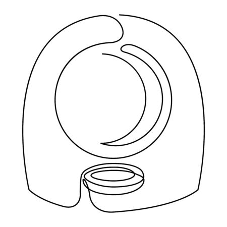 Fortune teelling, divination isolated crystal ball for mystic sphere of activity, shop. Witch store. Idea Taromancy, esoteric books, presentation, website. Furtive telling and witchcraft icons. Vector doodle  illustrations Imagens - 131271193