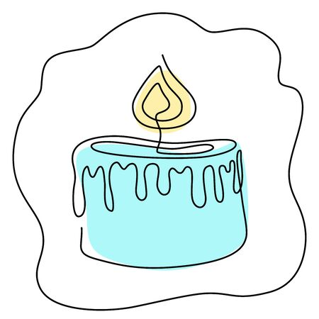 Fortune teelling, divination isolated candles for mystic sphere of activity, shop. Witch store. Idea Taromancy, esoteric books, presentation, website. Furtive telling and witchcraft icons. Vector doodle  illustrations Ilustração