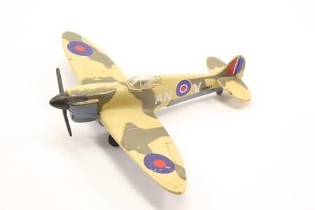 Toy British fighter plane World War 2 spitfire. photo