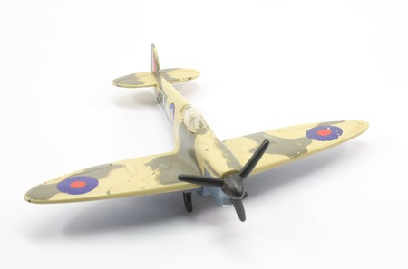 World war 2: Toy British fighter plane World War 2 spitfire.