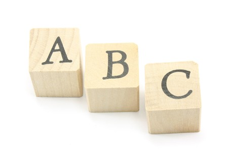 kids abc: Home made blocks spell out the ABCs.