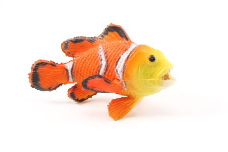 Toy Clown Fish on a white background. Stock Photo - 5262787