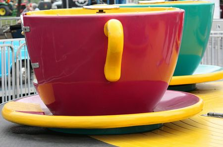 A giant teacup from a amusement park ride