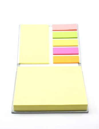 Assortment of sticky notes photographed on a white background Stock Photo - 5463896