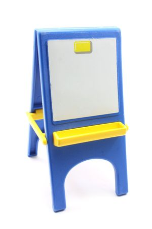 Toy easel and blank paper great for your message. Imagens