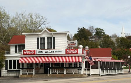 EPHRAIM, WI - MAY 8: Wilson's Restaurant & Ice Cream Parlor, a Door County Establishment since 1906, opens its doors for the summer season on May 8, 2010 in Ephraim, Wisconsin.   Stock Photo - 6961592