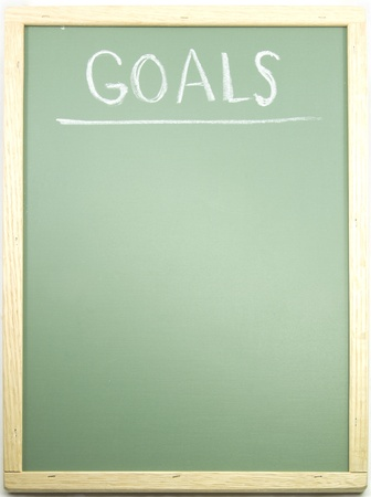 Goals written and underlined on a blackboard in chalk. Stock Photo - 9040673