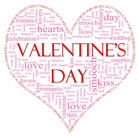 A Valentine's Day Word Cloud Stock Photo - 11597714