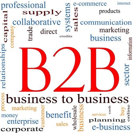 b2b: Palabra nube concepto B2B con unas condiciones de calidad, como de empresa a empresa, comercio electr�nico, servicios de venta, y mucho m�s.