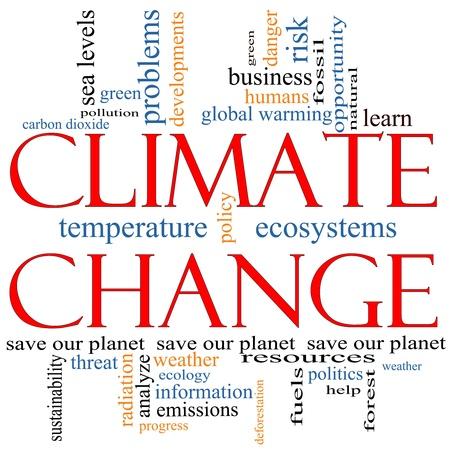 deforestacion: Un Cambio Clim�tico palabra nube concepto con t�rminos tales como salvar el planeta, el calentamiento global,, verde, la contaminaci�n y mucho m�s.