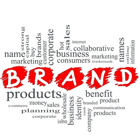 trademark: Brand Word scribble Cloud Concept with great terms such as consumers, trademark, online, marketing, corporate, product and more.