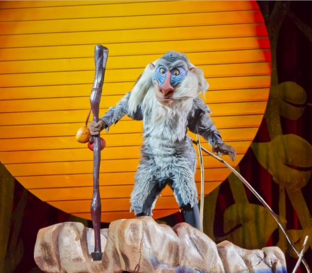 GREEN BAY, WI - MARCH 10: Rafiki from the Lion King at the Disney on Ice Treasure Trove show at the Resch Center on March 10, 2012 in Green Bay, Wisconsin. Stock Photo - 14564975