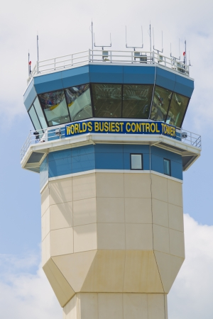 OSHKOSH, WI - JULY 27: A view of the Worlds Busiest Control Tower at the 2012 AirVenture at EAA on July 27, 2012 in Oshkosh, Wisconsin.