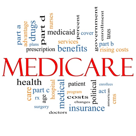 Medicare Word Cloud Concept with great terms  photo