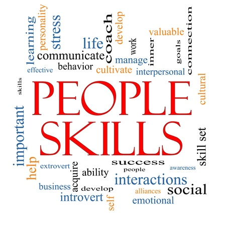 People Skills Word Cloud Concept with great terms photo