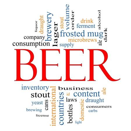 cerveza negra: Palabra Nube Concepto cerveza con los t�rminos de la talla de taza de helado, levadura, cerveza, cerveza, alcohol, beber cerveza negra, y m�s.