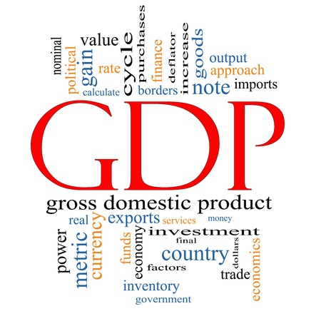 nominal: GDP Word Cloud Concept with great terms such as value, gross domestic product, economics, output, metric and more.