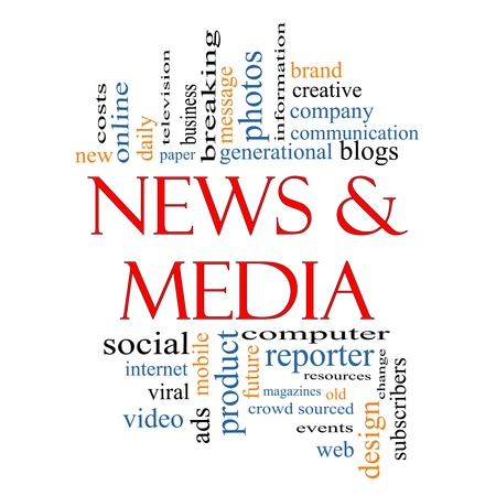 sourced: News and Media Word Cloud Concept with great terms such as television, viral, magazines, social, internet, ads, mobile, events and more.
