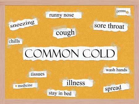 spread the word: Common Cold Corkboard Word Concept