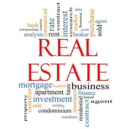 реальный: Недвижимость Слово облако концепции