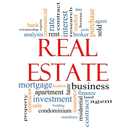 Real Estate Word Cloud Concept photo