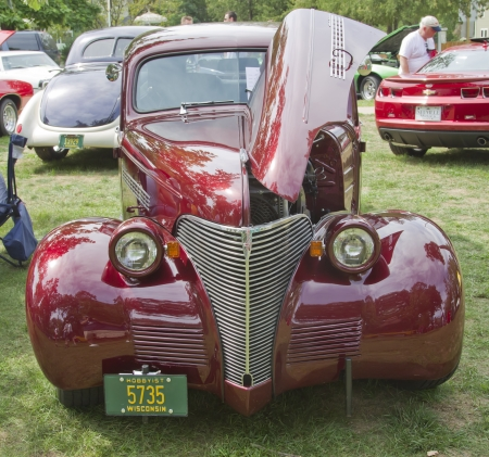 WAUPACA, WI - AUGUST 25: 1939 Chevy Master Deluxe car at the 10th Annual Waupaca Rod & Classic Car Club Car Show on August 25, 2012 in Waupaca, Wisconsin. Editorial