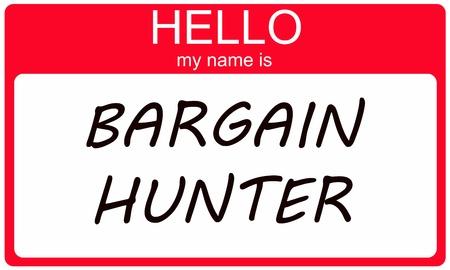 Hallo mijn naam is Jager op een rode en witte naamplaatje sticker.