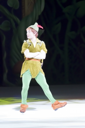 GREEN BAY, WI - MARCH 10:  Peter Pan on skates at the Disney on Ice Treasure Trove show at the Resch Center on March 10, 2012 in Green Bay, Wisconsin.