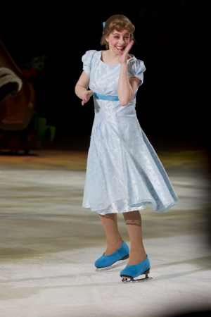 treasure trove: GREEN BAY, WI - MARCH 10:  Wendy from Peter Pan on skates at the Disney on Ice Treasure Trove show at the Resch Center on March 10, 2012 in Green Bay, Wisconsin.