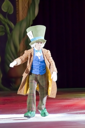GREEN BAY, WI - MARCH 10:  Mad Hatter from Alice in Wonderland on skates at the Disney on Ice Treasure Trove show at the Resch Center on March 10, 2012 in Green Bay, Wisconsin.